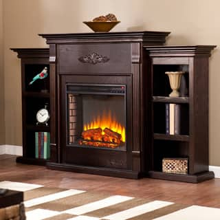 Gracewood Hollow Forbes 70 Inch Espresso Electric Fireplace