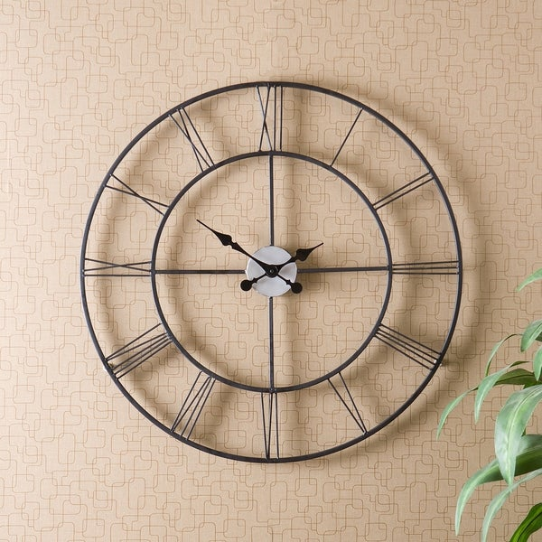 Clay Alder Home Sorlie Metal Black Wall Clock