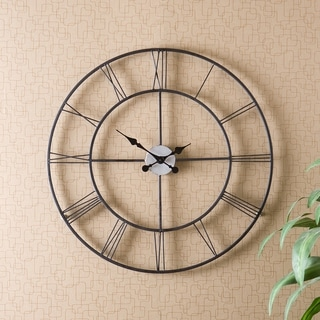 The Gray Barn Sunnybrooke Metal Black Wall Clock