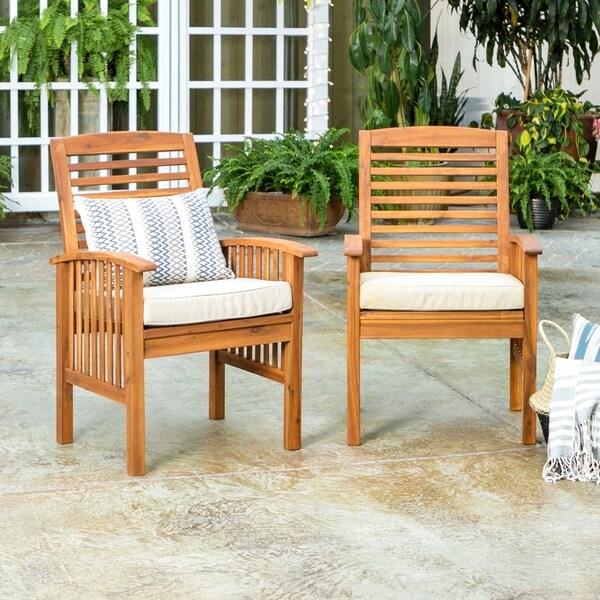 Havenside Home Surfside Acacia Wood Patio Chairs (Set of 2) - Shop Havenside Home Surfside Acacia Wood Patio Chairs (Set Of 2