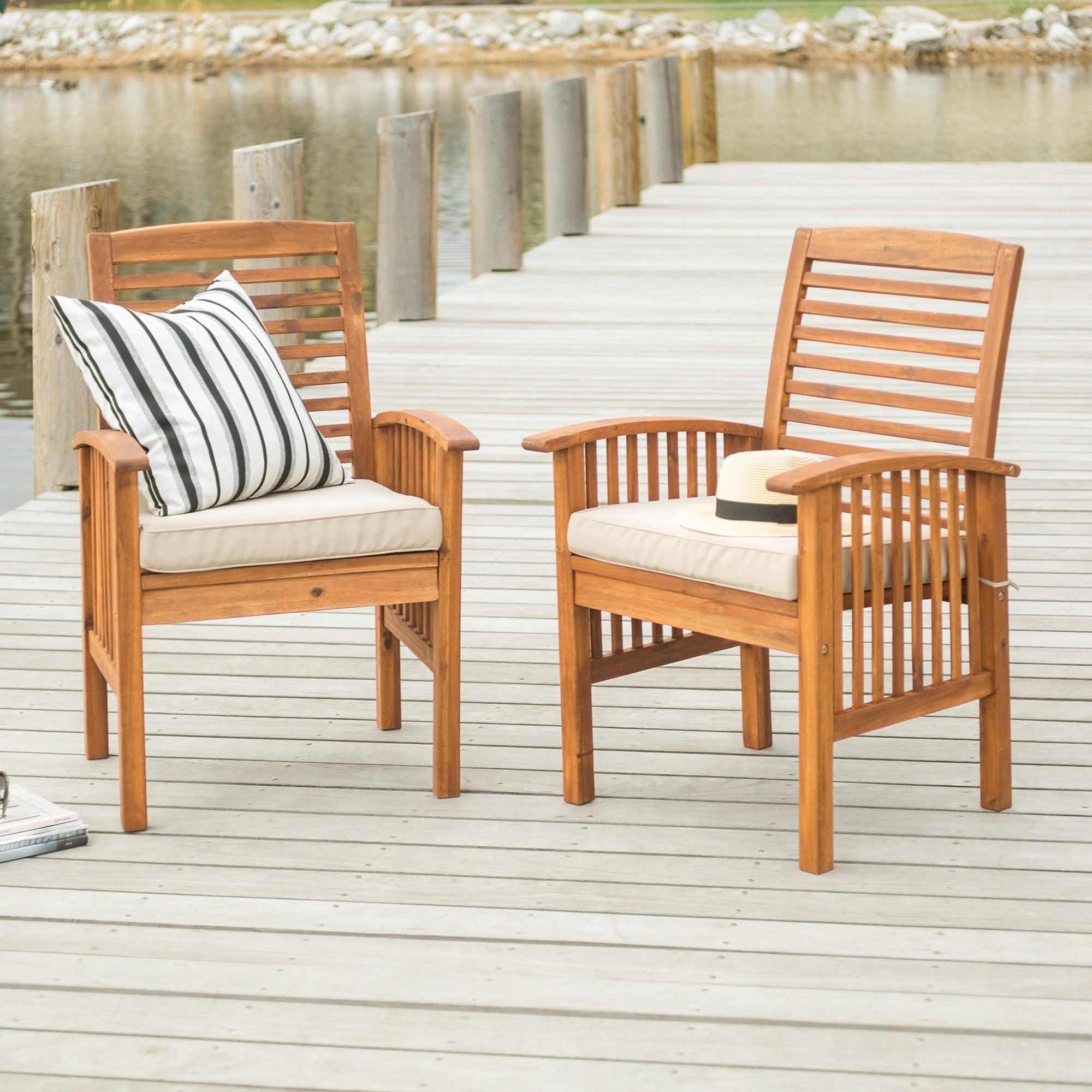 Surfside Acacia Wood Patio Chairs