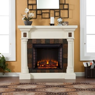 Copper Grove Jonquil Ivory Electric Fireplace