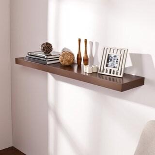 Porch & Den Sorlie 48 inch Espresso Floating Shelf
