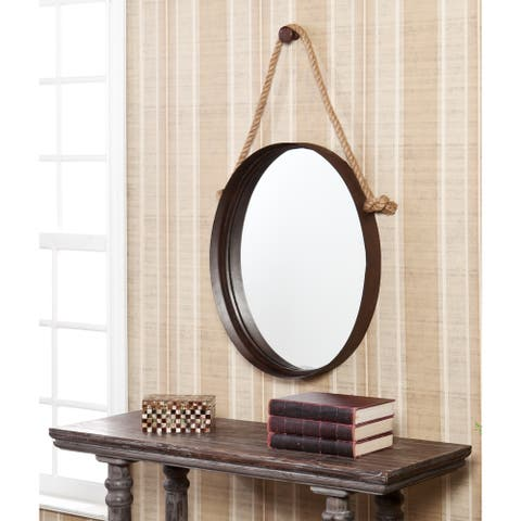 Carbon Loft Ged Rustic Farmhouse Decorative Wall Mirror