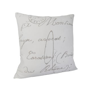 The Gray Barn Red Rock 18-inch French Script Throw Pillow