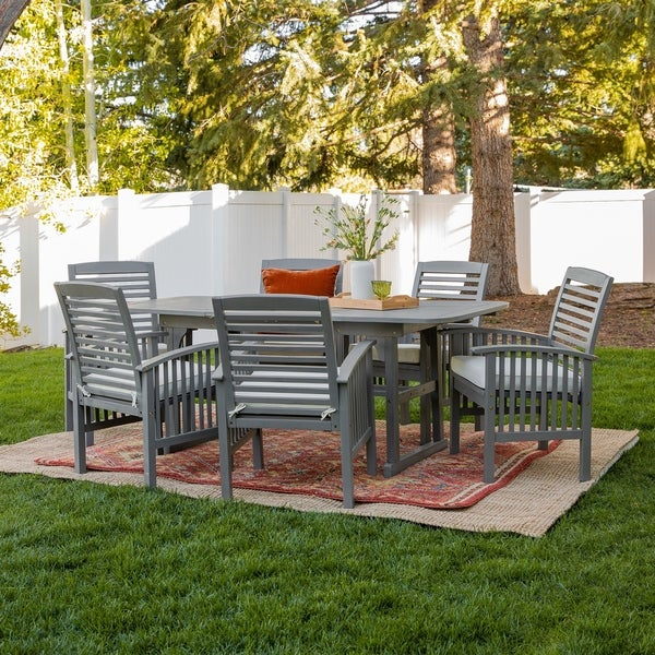 Havenside Home Surfside 7-Piece Acacia Outdoor Dining Set