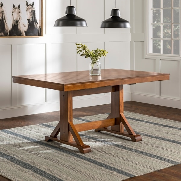 The Gray Barn Bluebird Farmhouse Chic Antique Brown Wood Dining Table 60