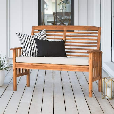 Surfside Acacia Outdoor Love Seat - Brown by Havenside Home