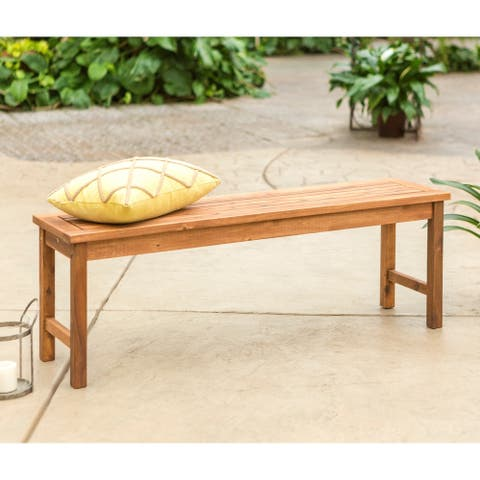 Surfside 53-inch Acacia Outdoor Bench - Brown by Havenside Home