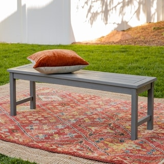 "Havenside Home Surfside 53"" Acacia Outdoor Bench - 53 x 14 x 18h"