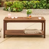 The Gray Barn Bluebird Acacia Wood Patio Coffee Table - Dark Brown