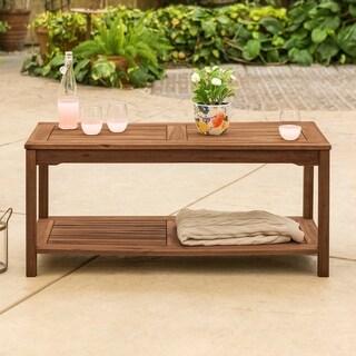 The Gray Barn Bluebird Acacia Wood Patio Coffee Table - Dark Brown