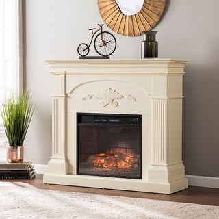 Gracewood Hollow Niatum Ivory Infrared Electric Fireplace