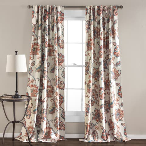 The Curated Nomad Conchita Floral Curtain Panel Pair