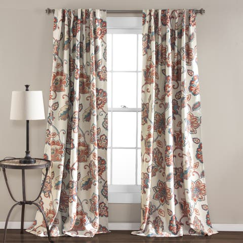 The Curated Nomad Conchita Floral Curtain Panel Pair - 52 x 84