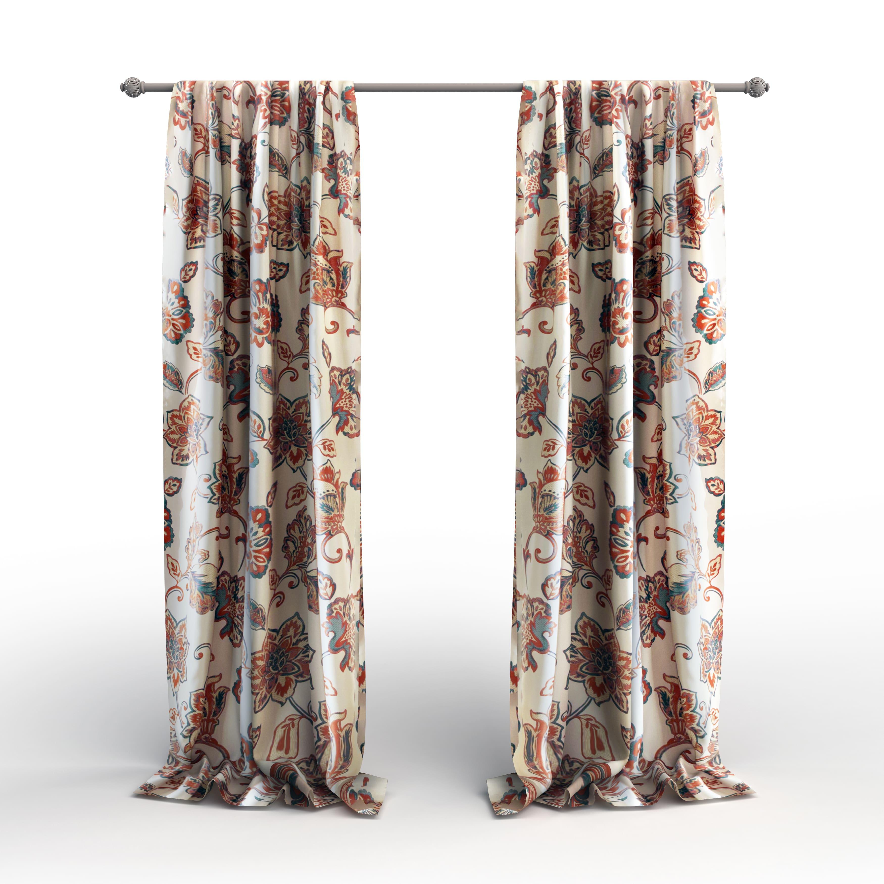 The Gray Barn Dogwood Floral Curtain Panel Pair