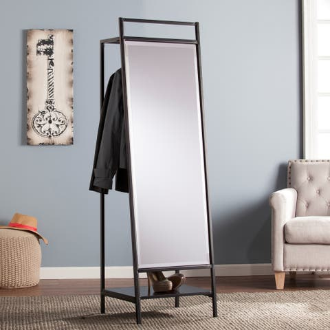 Strick & Bolton Mei Standing Mirror and Coat Rack - N/A