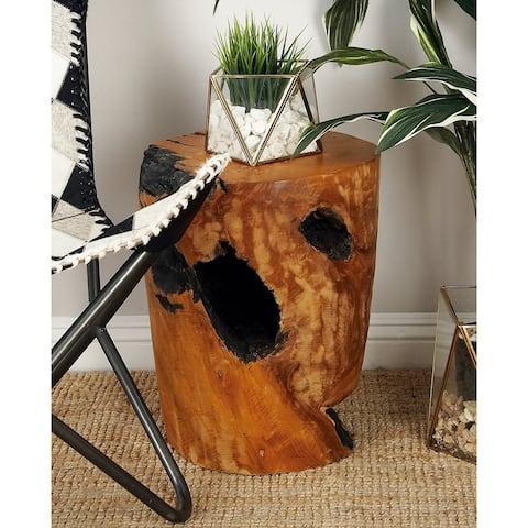 Carbon Loft Dogwood Teak Wood Stool