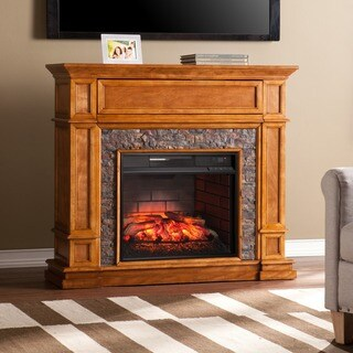 Gracewood Hollow Amiotte Simulated Stone Media Center Infrared Electric Fireplace