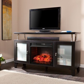 Gracewood Hollow Fairbanks Black Media Infrared Electric Fireplace