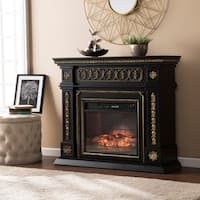 Gracewood Hollow Kegg Walnut Infrared Electric Fireplace