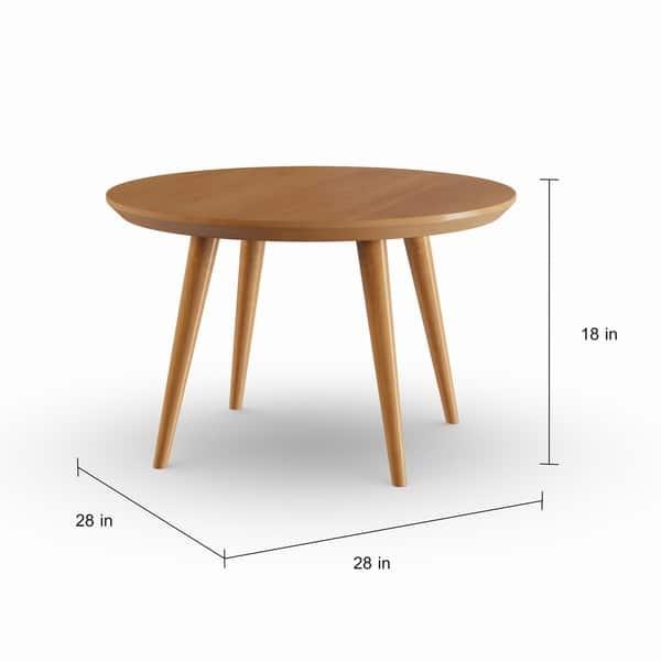 Shop Carson Carrington Olgod Mid Century Modern Round Coffee Table