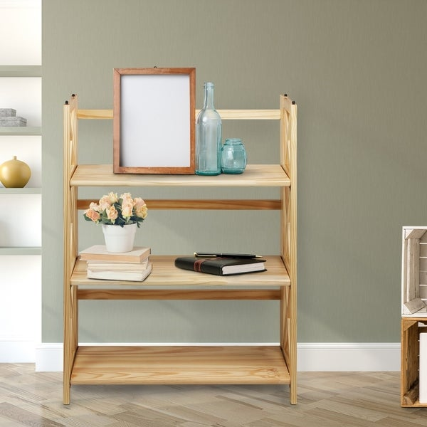 Copper Grove Jaborosa 3-shelf Folding Stackable Bookcase. Opens flyout.