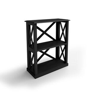 The Gray Barn La Vida Wood 3-shelf Bookcase with X Detail