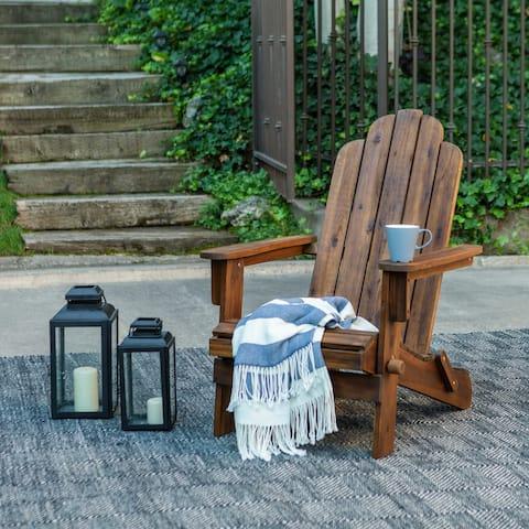 Havenside Home Surfside Acacia Patio Chair - Dark Brown