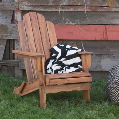 The Gray Barn Bluebird Acacia Adirondack Patio Chair - Brown