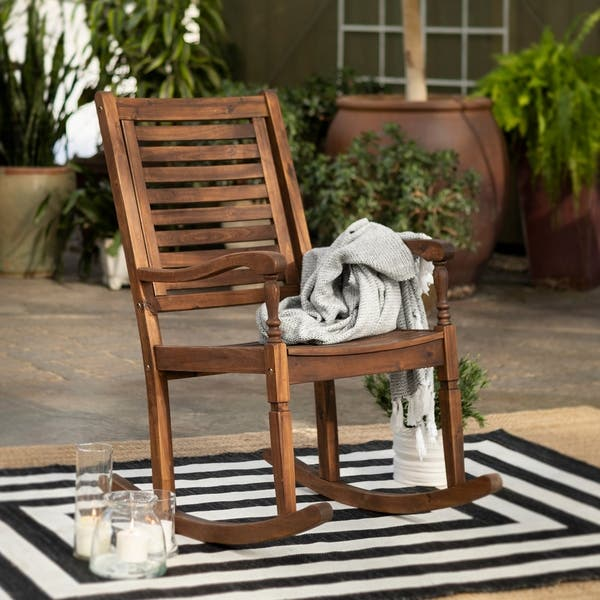 Swell Shop Havenside Home Surfside Acacia Outdoor Rocking Chair Unemploymentrelief Wooden Chair Designs For Living Room Unemploymentrelieforg