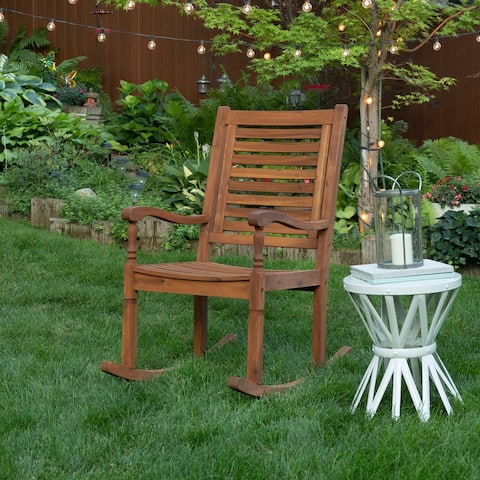 Surfside Acacia Brown Outdoor Rocking Chair by Havenside Home