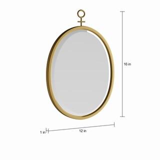Silver Orchid Grant Decorative 3-piece Mirror Set in Gold