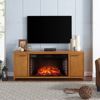 Gracewood Hollow Cusick Oak Finish Engineered Wood/Birch Veneer/Rubberwood 33-inch Widescreen Electric F