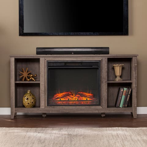 Porch & Den Haveford Electric Fireplace TV Stand
