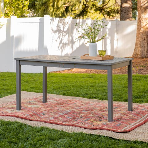 Havenside Home Surfside Acacia Outdoor Dining Table - 60 x 34 x 30h