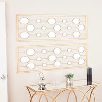 Oliver & James Menzel Gold Mirrored Wall Panels (Set of 2)