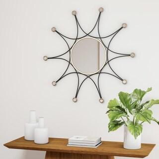 Carson Carrington Asnaes Black Decorative Wall Mirror - Gold
