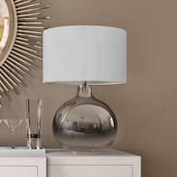 Lucia Table Lamp in Luster Glass with Linen Shade