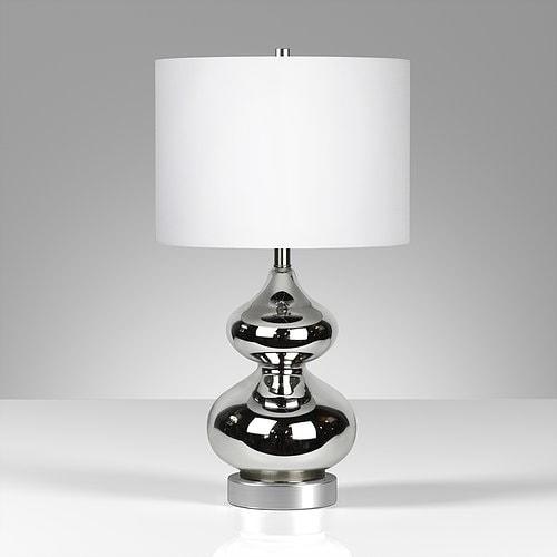 Katrin table lamp in mercury glass