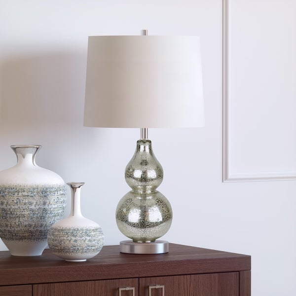 Shop Katrina Petite Double Gourd Table Lamp In Mercury Glass On