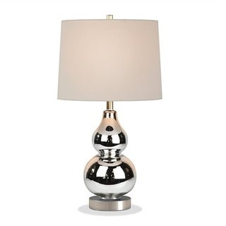 Katrina petite table lamp in mercury glass