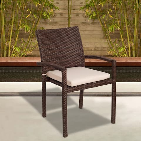 Popham Wicker Stacking Armchair (Set of 4) by Havenside Home - 4 Piece