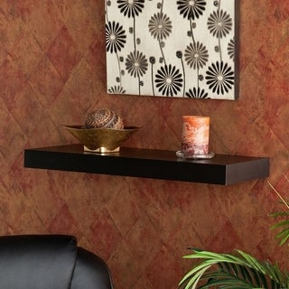 Porch & Den Hi-Line 24-inch Black Laminated Floating Shelf