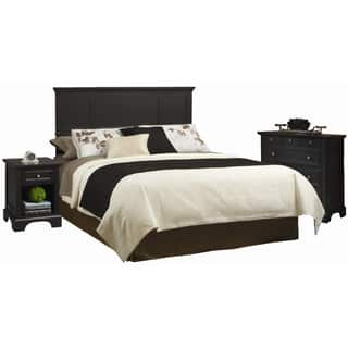 Copper Grove Oastler Queen/Full Headboard Night Stand and Chest Set - Black