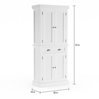 Copper Grove Parsa White Distressed Finish Pantry