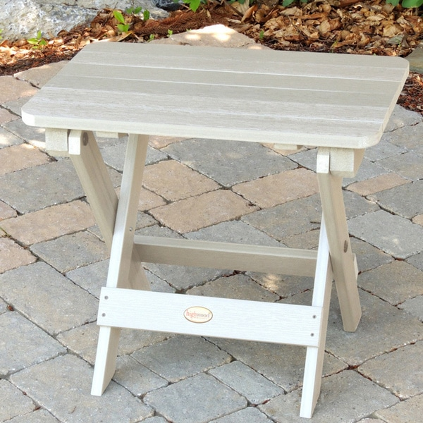 Havenside Home Mandalay Eco-friendly Synthetic Wood Folding Side Table