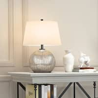 Ingrid table lamp in mercury glass