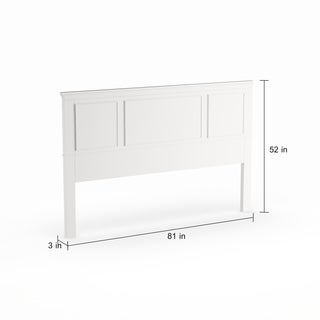 Havenside Home Boothbay White King Headboard