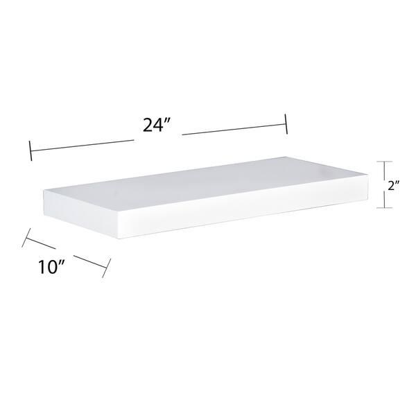 Hi Line 24 Inch White Floating Shelf